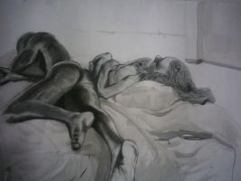 Life Drawing Final -2 nudes by RreyesP