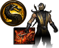 Scorpion Mortal Kombat 9 by xDarkArchangel
