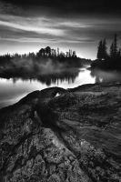 Kapuskasinf River Black and white by northernbackroads