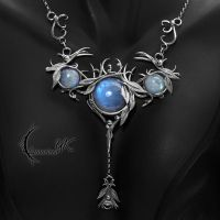 MOONXYNTHRIALL - silver and moonstone by LUNARIEEN