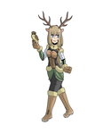 Stag Girl Colour by Alulle