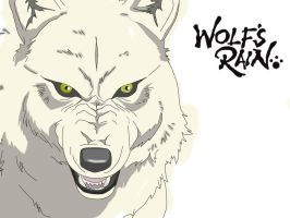 Wolf's Rain - Kiba Coloured by nekomeew