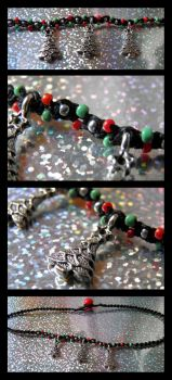 Three Xmas Trees Choker by Jenna-Rose