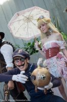 Steampunk Waluigi And Peach by Typical-Mental