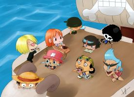 Chibis de One Piece by SamanthaWalls