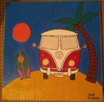 Kombi Van beach painting! by jdrabble02