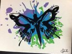 Skull Butterfly Splatter by tcp467