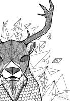 Geometric Deer by dushky