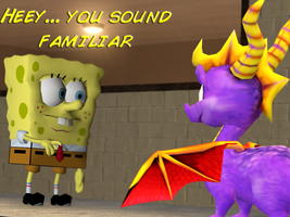 Spongebob meets Spyro by mattwo