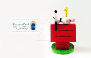 Quilling Snoopy and Woodstock by kyomoncraft