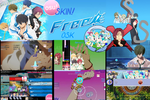 Free! - Iwatobi Swim Club Osu! Skin [OSK] by Allen-WalkerDGrayMan