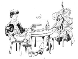 Dylan Dog and Constantine by Rafael0381