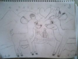 Rudolph and Zoey's love hill by JimmieJohnson48fan