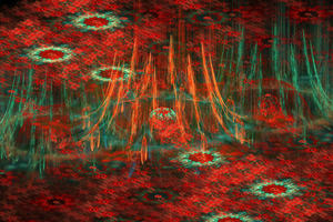 tapestry of red flowers by tsahel
