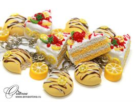 Lemon Cake by OrionaJewelry