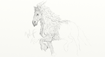 WIP Maleficent : Diaval as a Horse by Orikunie