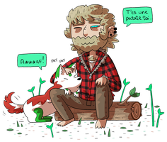 Dog and Lumberjack by ZeTrystan