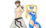 Bearded Ryu -- R. Mika by JimmyDArtist