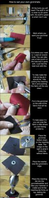 Tutorial-How to set grommets by RuffleButtCosplay