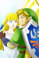 Skyward Sword Zelda and Link by crazyfreak