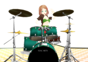 MMD: Nyotalia America and the Drums by Chibi-Baka-San