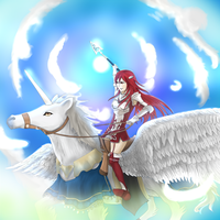 Cordelia the Falcon Knight by ThePhantomArts