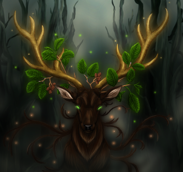 Stag of Life by Maszrum