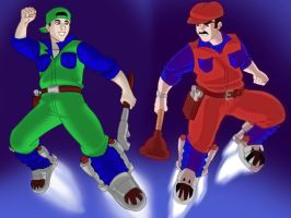 The Super Mario Brothers by OptimusPraino