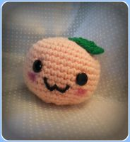Kawaii Summer Peach Amigurumi by Ashler-Sauce
