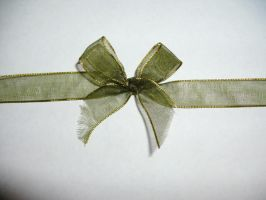 Green Bow Ribbon by Rubyfire14-Stock