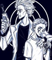 Evil Rick and Evil Morty by LucLeon