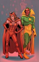 Wanda and vision..better days by atombasher