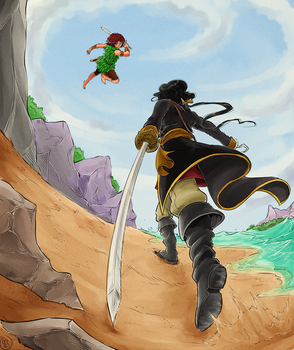 Duel on the Beach by TriaElf9