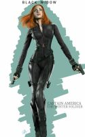 Black Widow Captain America the winter soldier by billycsk