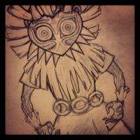 skull kid wip by modestartist20