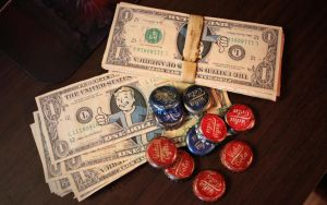 Vault Boy Bills + Nuka Caps // Fallout 3 Props by Keevanski