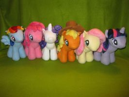 My Little Pony Plush - Mane Six by Nethilia