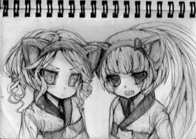 Sketchbook: Anna and Nekomura by Unyapu