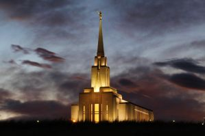 Oquirrh Mountain Temple by Ericseye