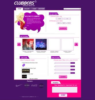 Clubbers, New web design by Natinhoo7