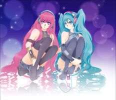 Luka And Miku by Lucceira