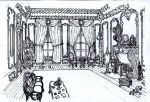 Rococo Room: Drawing by Benjamin-the-Fox