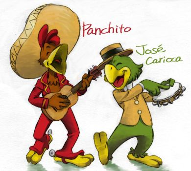 panchito + jose carioca by harakirimushi