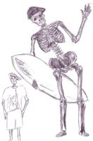 Surfy Skeletons by dtasha