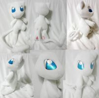 White Mew plushie by Rens-twin