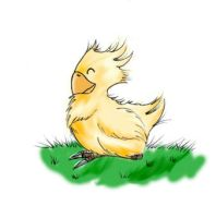 Poofy Chocobo by TheHeroine