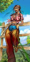 commisssshhhh cowgirl by JustArt27
