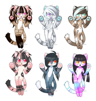 Anthro Kitty Adopts - closed by kawaii-antagonist