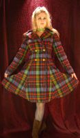 Tartan Winter Coat by ThreeRingCinema