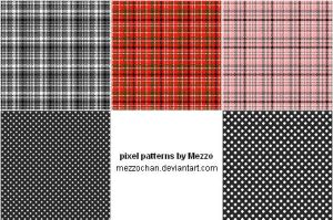 Pixel Patterns - Stock by Mezzochan